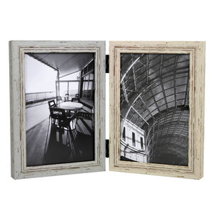 Vintage Wood Photo Frame 2 Hinged