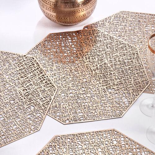 Hexagon Placemat - Gold