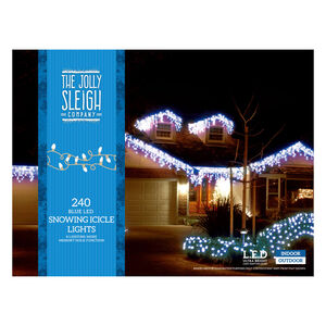 240 Icicle LED Snowing Light Blue