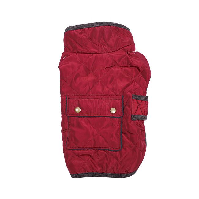 Quilted Dog Coat With Pocket Medium