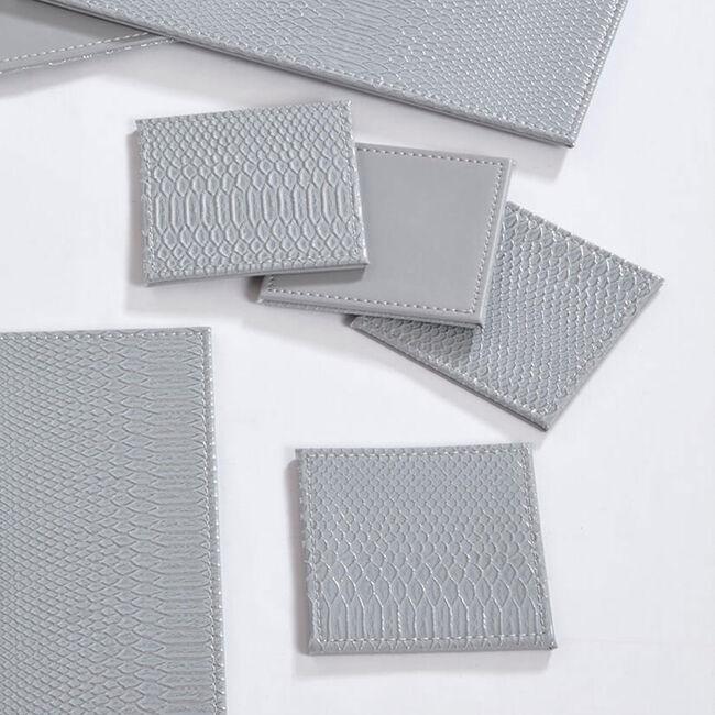 Reversible Croc Coasters - Grey