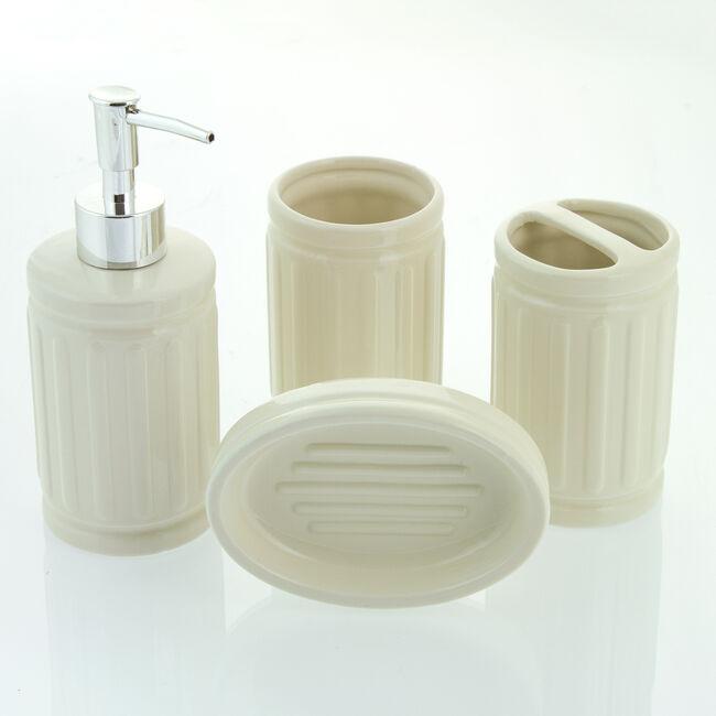 Renzo 4 Piece Bathroom Set Cream