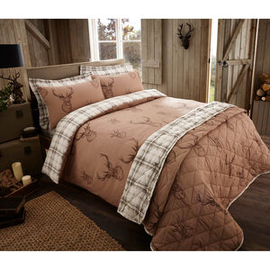 Brushed Cotton Natural Stag Duvet Cover
