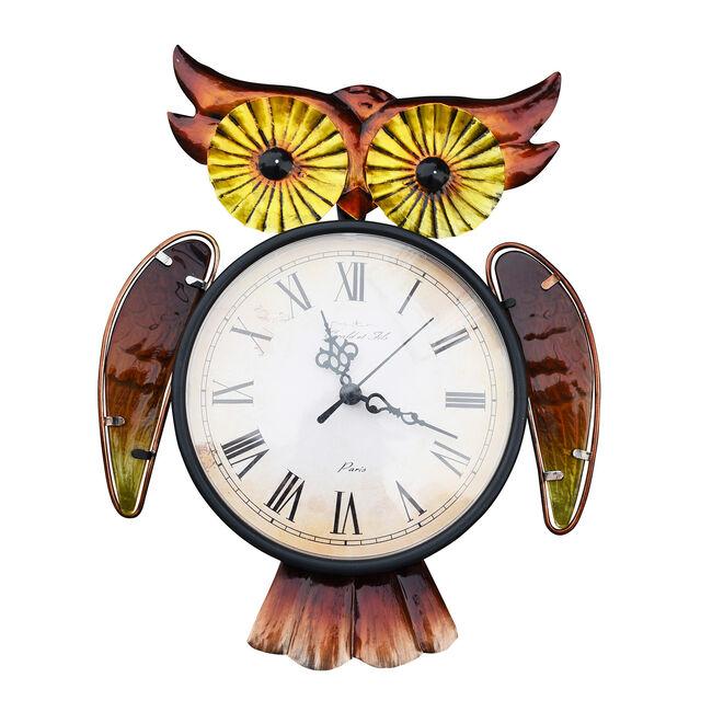 Big Eyes Owl Garden Clock