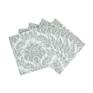 Damask Cocktail Napkins 20 Pack - Grey