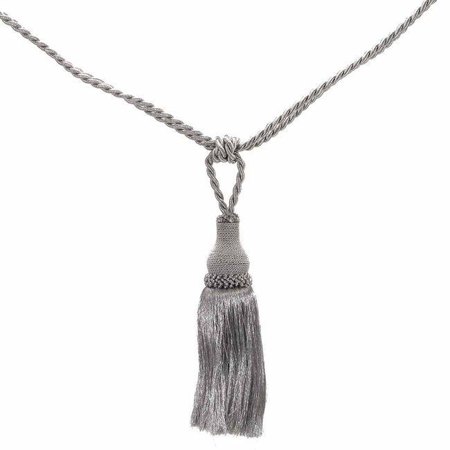 Elegance Medium Rope Silver Tieback