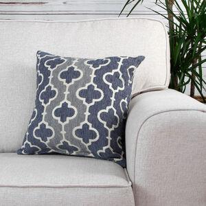 Mairead Trellis Denim Cushion 45cm x 45cm