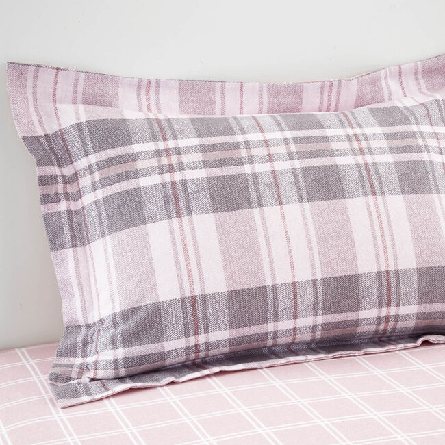 Brushed Cotton Bartragh Oxford Pillowcase Pair