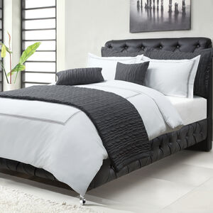 SINGLE DUVET COVER Triple Stitch Silver 300tc
