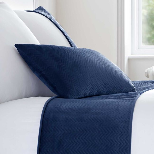 Ribeiro Velvet Cushion Navy 30 x 50cm