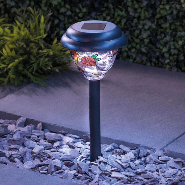 Stained Glass Effect Solar Stake Light
