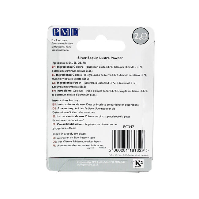 PME Silver Sequin Lustre Powder 2g