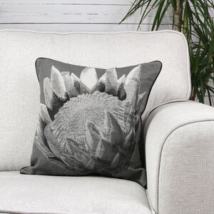 Alexa Flower Cushion Cover 45x45cm - Black