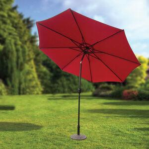3M Crank & Tilt Sun Parasol Red
