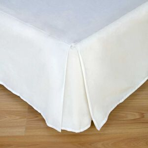 SINGLE BASE VALANCE 200 Threadcount Cotton White