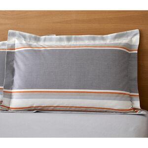 Ollie Oxford Pillowcase Pair - Grey