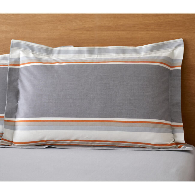 Ollie Oxford Pillowcase Pair - Grey