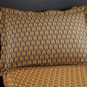 Maria Ochre Oxford Pillowcase Pair