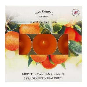 Mediterranean Orange Box Of 9 Tealights