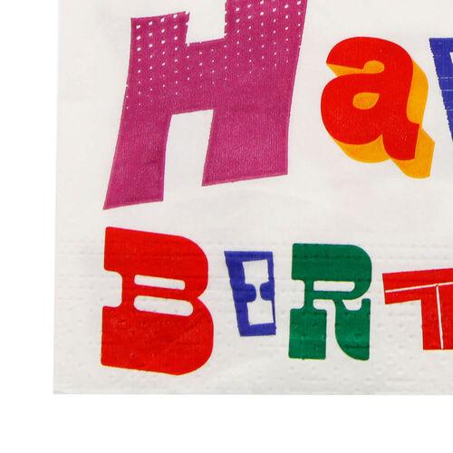 Birthday Words Napkins 20 Pack