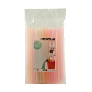 Smoothie Straws 40 Pack - 20cm