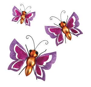 3D Sparkle Butterflies Garden Wall Art