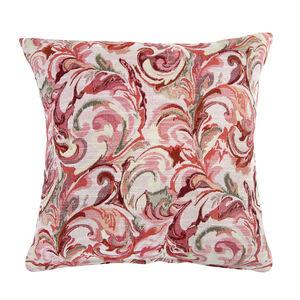 Mary Leaf Red Cushion 45cm x 45cm