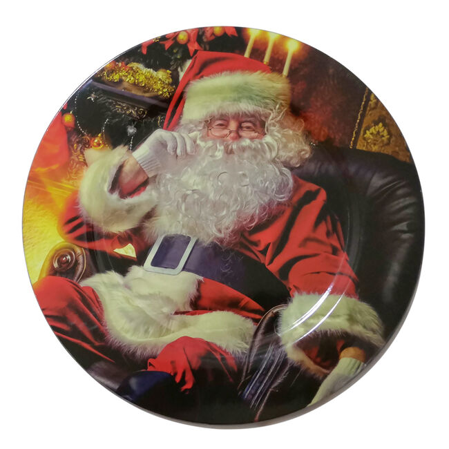 Traditional Santa Charger Plate