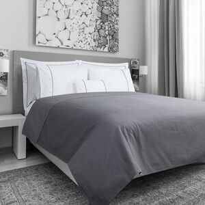 Triangles White/Grey Bedspread 200x230cm