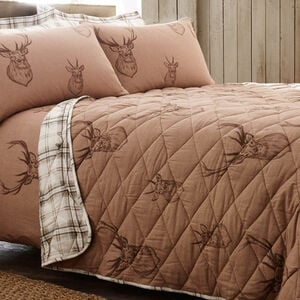 Brushed Cotton Stag Bedspread