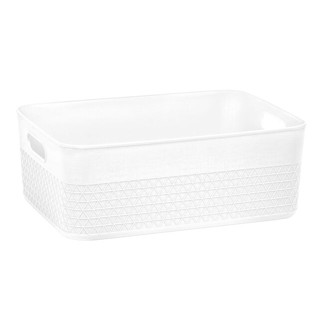 Waffle 11L Storage Container w/o Lid White