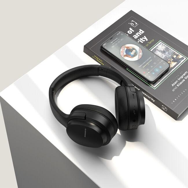 Sonarto Black Bluetooth Foldable Headphones