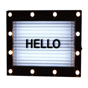 SIGN Black Lightbox w/LED bulbs and 144 Letters