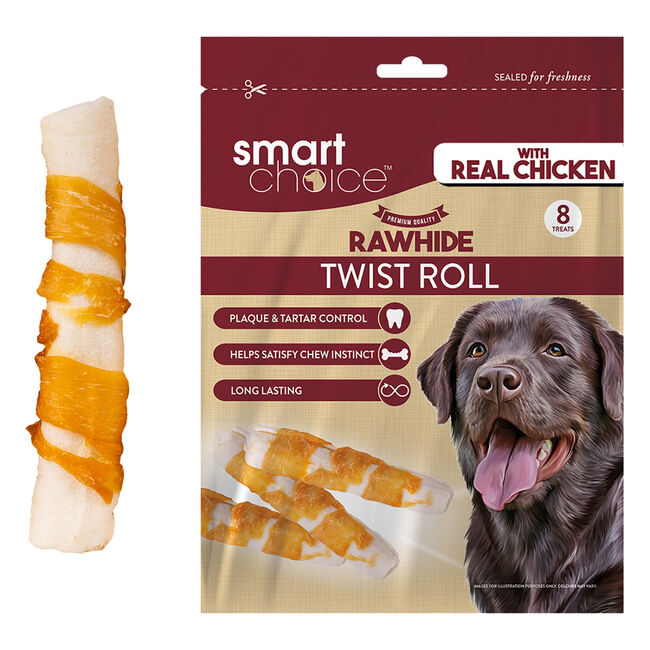 Rawhide Roll with Chicken Wrap - 8 Pack