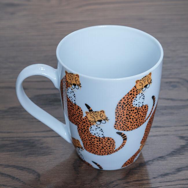 Cheetah Fine China Mug