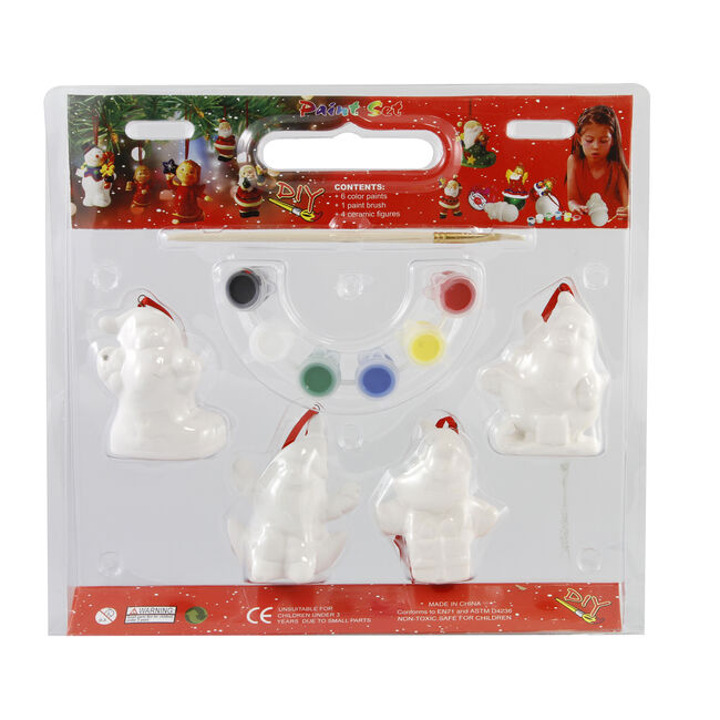 Paint Your Own Christmas Ornament Set