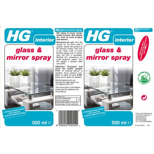 HG Glass & Mirror Spray 0.5L