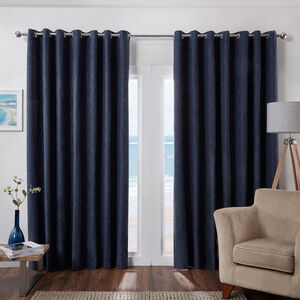 Blackout & Thermal Basketweave Curtains - Blue Navy
