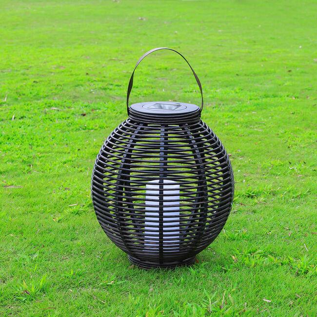 Large Palerma Rattan Solar Lantern