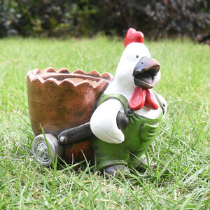 Rooster Plant Pot