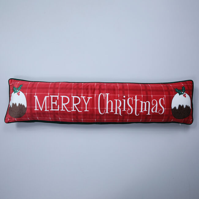Merry Christmas Pudding Draught Excluder 22x90cm