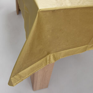Vinyl Tablecloth 132x178cm - Gold
