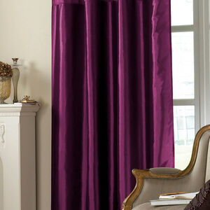 Embroidered Purple Taffeta Curtain