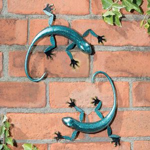3D Gecko Garden Wall Art 2 Pack