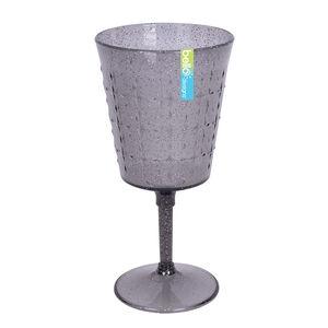 Glitter Wine Goblet - Grey
