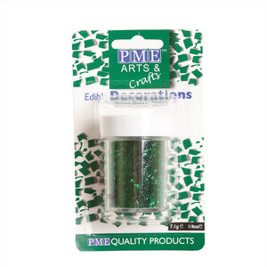 PME Edible Glitter Flakes 7.1g - Green