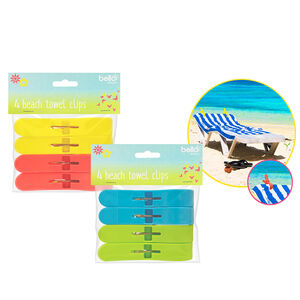 Beach Towel Cups 4 Pack