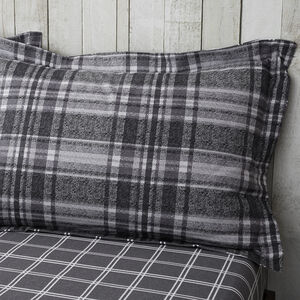 Brushed Cotton Boothman Check Oxford Pillowcases