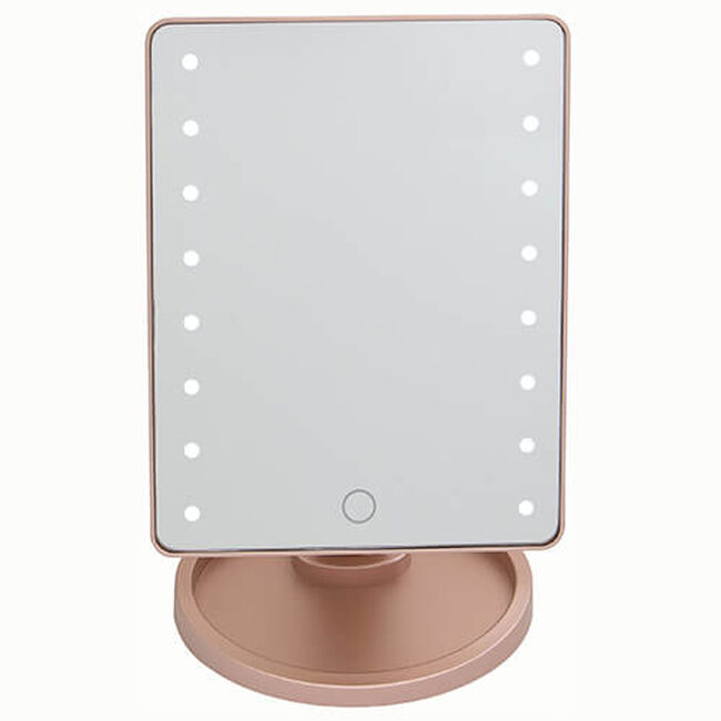 LED Smart Touch Lighting USB Mirror Rose
