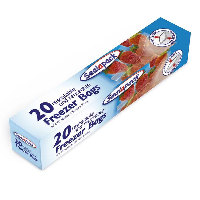 Sealapack Resealable Freezer Bags - 20 Pack